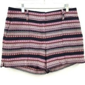 LOFT Stripe Textured Rivera Shorts